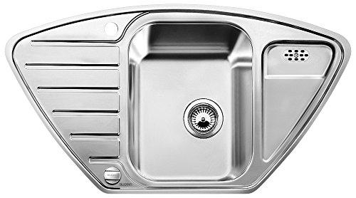 Blanco LANTOS 9 E-IF, Küchenspüle, Edelstahl Bürstfinish, 1 Stück, 516277