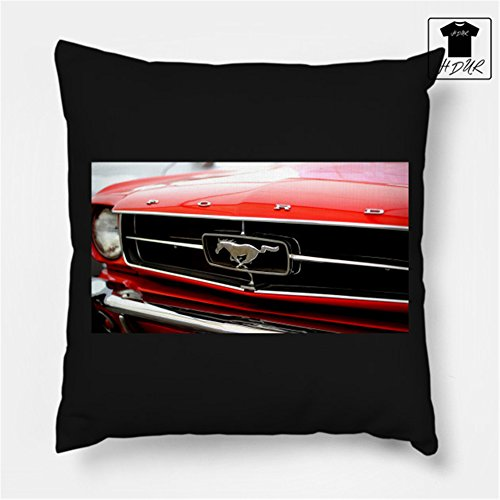 Throw Pillow Ford Mustang Ford Mustang Cotton Sofa & Bed Home Decor Simple Fashionable Design 18 X 18 Inch Cushion-core pillow (Ford Mustang Throw)