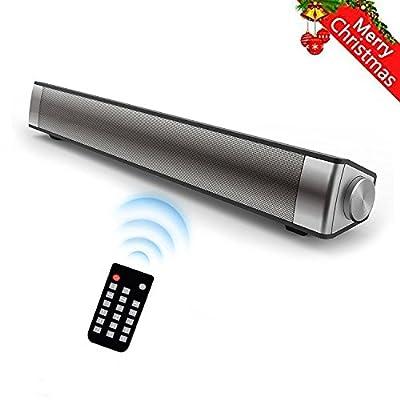 DABASO Sound Bar,New LP-08 2.1 Channel 10W Black Wireless Bluetooth 4.0 Speaker,Super Bass Stereo Multifunctional Soundbar for TV/Computer/smartphone/MP3 Player(2017 Model)