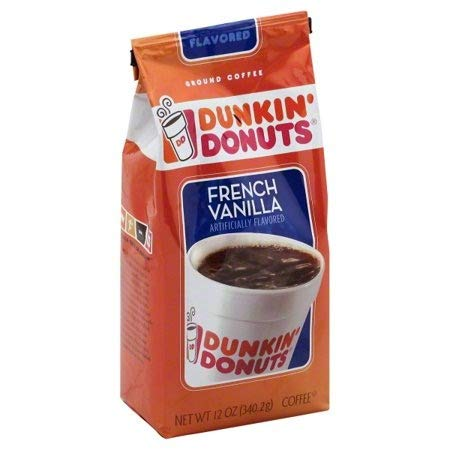 Dunkin' Donuts French Vanilla Ground Coffee, 12 oz(Pack of 4)