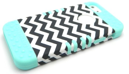 New 3-piece Black and White Chevron Stripes Impact Hybrid Co