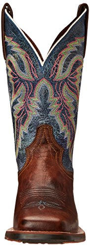 Dan Post Femmes Teton 2 Western Boot Tan / Bleu