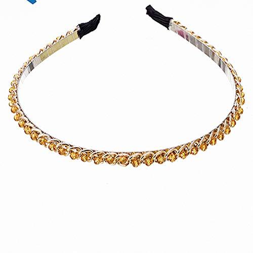 Girls Headband Metal Shiny Hair Hoop Headwear Hairbands Hair Accessories for Womens Princess Ladies Hair Band Headdress,yellow