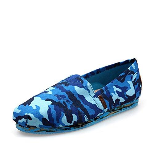 Zapatillas de primavera/Casuales zapatos pedal ligero de camuflaje/Bangtao pies zapatos Azul