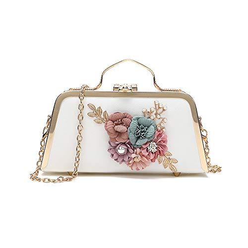 White Portable Messenger Pour Sac Flower Lqqazy Main À Femme Bandoulière BYzw6vqg