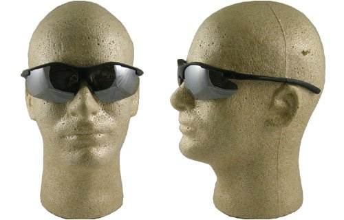 Pyramex Fortress Safety Eyewear, Silver Mirror Lens With Black - Glasses Frames Online