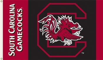 NCAA South Carolina Fighting Gamecocks 2-Sided 3-by-5 Foot Flag