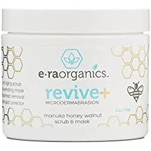 Microdermabrasion Facial Scrub & Body Exfoliator - Natural Face & Body Scrub Exfoliator with Manuka Honey & Walnut - Moisturizing Facial Exfoliant for Dull Dry Skin, Wrinkles & Blemishes 4.0oz/113.4g