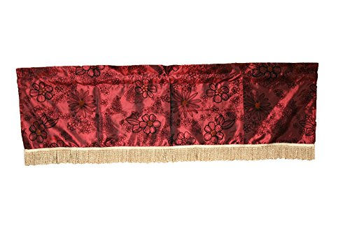 Violet Linen Silky Bloom Window Valance, 60