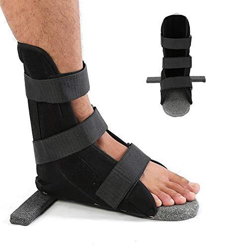 Foot Brace,3 Sizes Adult Leg Fixation Protector Ankle Strap Support Soft Comfort Dorsal Night Splint Foot Orthosis Plantar Splint Brace for Women & Men Sleep Support(M)