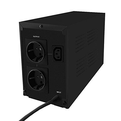 1xIEC LCD 2xSchuko UPS QOLTEC 600VA 360W