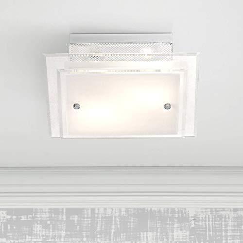 Modern Ceiling Light Flush Mount Fixture Frosted Glass 11 3/4