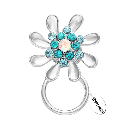 NOUMANDA New Style Crystal Sunflower Eyeglass Holder Brooch - Style Eyeglasses New Of