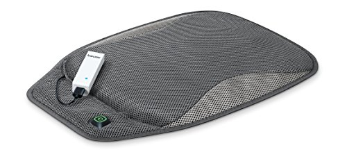 (Beurer Portable Wireless Heated Seat Cushion with Convenient Storage Bag, Rechargeable, Durable for Indoor and Outdoor Use,)
