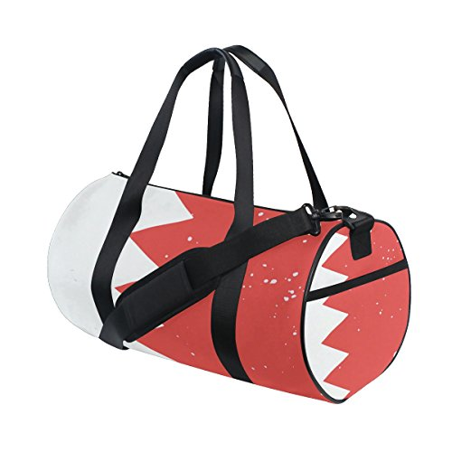 Distressed Bahrain Flag Travel Duffel Shoulder Bag ,Sports Gym Fitness Bags by super3Dprinted