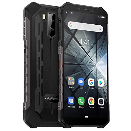 Rugged Cell Phones Unlocked, Ulefone Armor X3 Waterproof Unlocked Cell Phone, Global 3G Dual SIM Android 9.0 2GB+32GB 5…