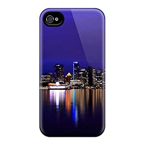 Hot Fashion Design Case Cover For Iphone 4/4s Protective Case (vancouver Night Lights) by ruishername