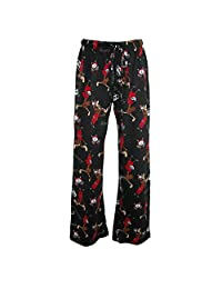Just One Women's Plus Size Knit Novelty Print Pajama Pants
