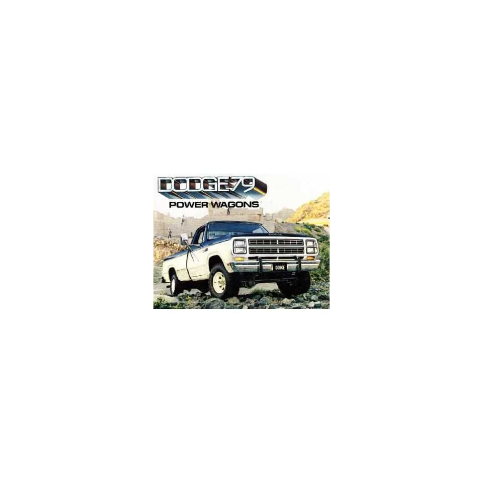 1979 Dodge Power Wagons Sales Brochure Literature Book Advertisement Options