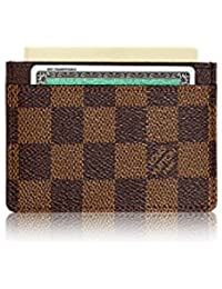 Damier Ebene Canvas Card Holder N61722. Louis Vuitton