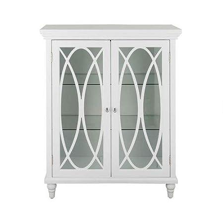 Double Door Floor Cabinet in White
