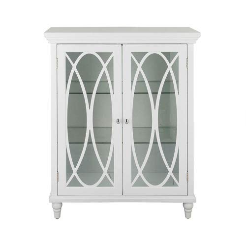 (Double Door Floor Cabinet in White)