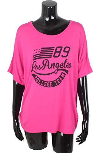 Emma Donna amp; shirt Oversize Angeles Los top Fucsia Giovanni T 4r8q4