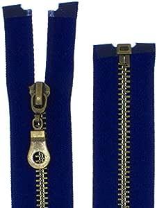 30 cm divisible azul oscuro Cremallera de metal de 5/mm