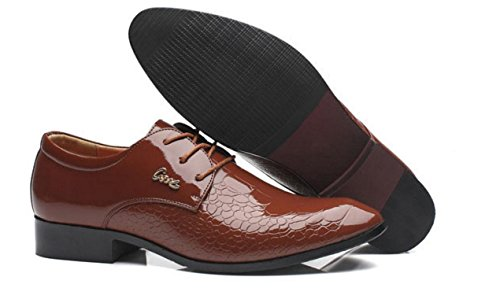HYLM Zapatos del negocio de los hombres Zapatos de la boda Zapatos ocasionales Zapatos de la marea El nuevo color sólido del patrón yellow brown