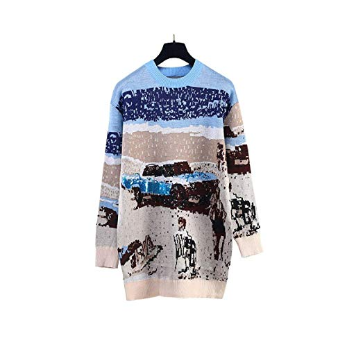 Donne Jumper Maglioni Home Warm color coloured Multi Pattern Multi M Paillettes Inverno Size Donna Car coloured Beach Marcu Di Ladies Nuove Pullover Shining wEzqq6