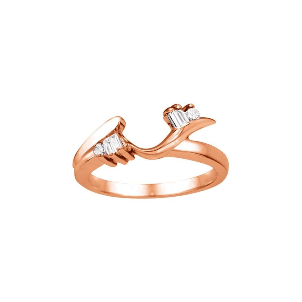 14k Yellow Gold Ring Wrap Enhancer (0.2 crt. Diamonds G H SI2 I1 ). Wedding Bands Jewelry