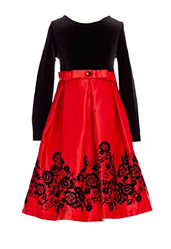6x Girls Velvet Dress - 4