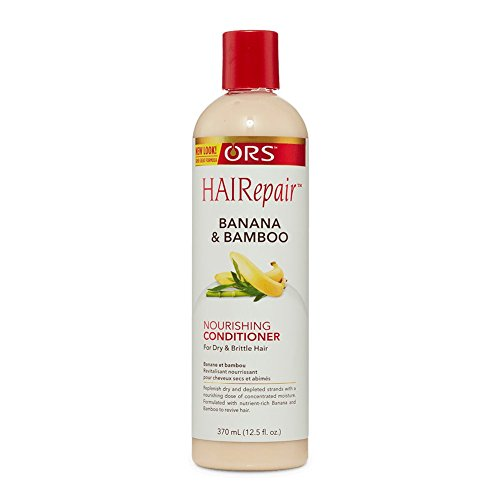 Replenishing Conditioner - ORS HAIRepair Banana and Bamboo Nourishing Conditioner for Dry and Brittle Hair 12.5 Ounce