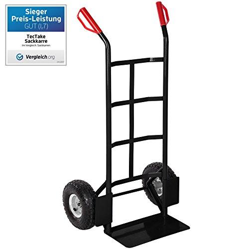 150 opinioni per TecTake Carrello portacasse manuale da trasporto ruote pneumatiche portata 200kg