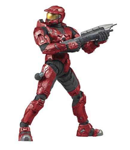 18178 McFarlane Toys Halo 3 Series 1 Spartan Soldier Mark VI Armor Red