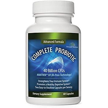 Pinnacle Nutrition 40 Billion CFUs Probiotics - Lactobacillus Acidophilus Premium Digestive Supplement To Reduce Gas, Bloating, & Constipation in Men, Women. 60 Capsules, Moneyback Guarantee Included