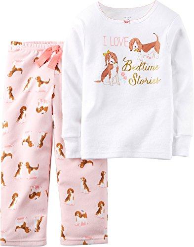 Carter's Little Girls' Puppy Micro-Fleece Pajama Set (4T)