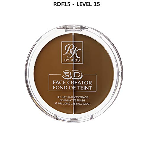 3D FACE CREATOR (RDF15) - Ruby Kisses HD 2 Color Foundation + Concealer
