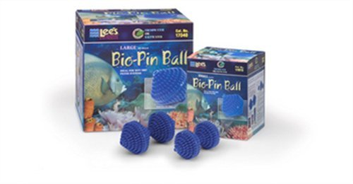 Lee's Pet Products ALE17035 74 Count 1-Gallon Bio-Pin Ball for Aquarium Filter, Large