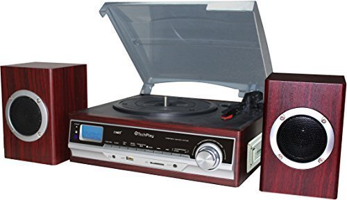 TechPlay ODC174WD SP, 3 Speed Turntable W/Cassette Player, R