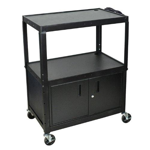 LUXOR AVJ42XLC Locking Cabinet, 42'' H x 32'' W x 20'' D, Black