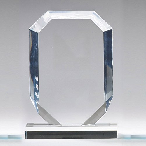Customizable 8 Inch Blue Acrylic Arrow Head Award, Includes Personalization (Rectangle Acrylic Award)