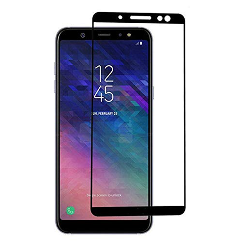 Protective Screen Glass for Samsung Galaxy A6 2018 - [2PACK] Full Cover Ultra Thin Screen Protector Tempered Glass for Galaxy A6