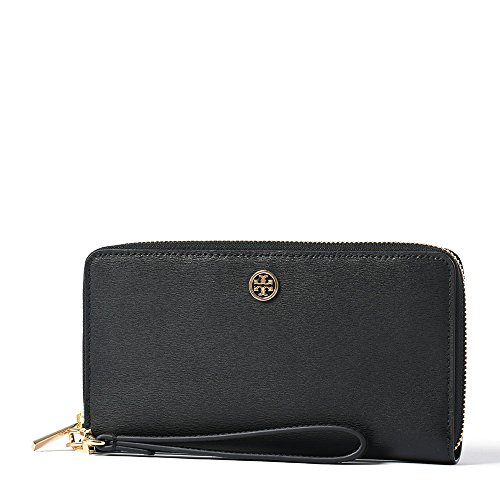 Tory Burch Parker Zip Continental Wallet in Black by Tory Burch