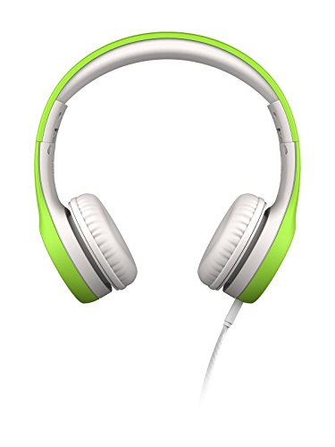 LilGadgets Connect+ Kids Premium Volume Limited Wired Headphones with SharePort (Children, Toddlers) - Green