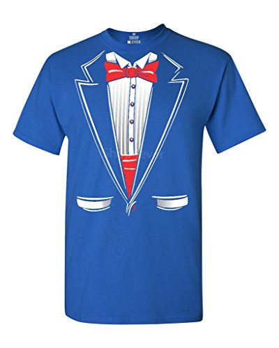 - Shop4Ever Tuxedo Costume T-Shirt Funny Shirts Large Royal Blue 11224