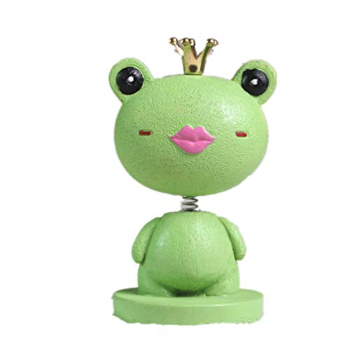 Bobblehead Frog Toy Car Accessories/Dashboard Bobblehead for Car/ Interior Decoration,Kid's Gift princess