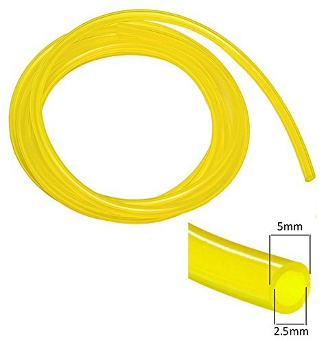1M TUBO DE COMBUSTIBLE 2.5MM x 5MM AMARILLO TRANSPARENTE ...