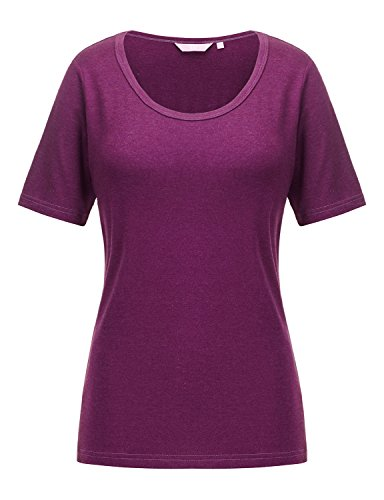 [REGNA X Love Coated Woman Purple Sexy solid casual Boat neck cap sleeve Top M,17504_purple,Medium] (U-neck Cap Sleeve Top)