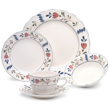 Nikko Provincial Avondale Pattern 5 Piece Place Setting Red